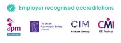 Arden University Accreditations logos