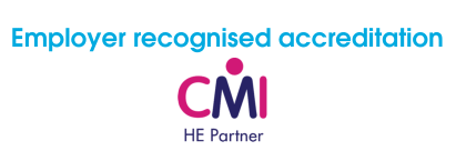 Employer recognised accreditation CMI logo