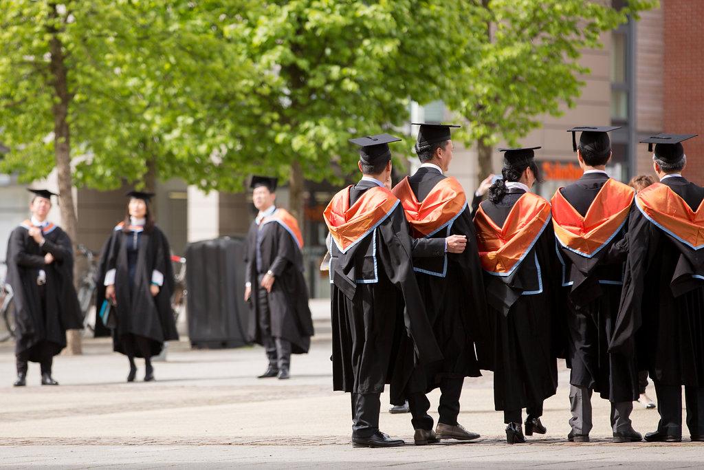 Graduates having their photos taken